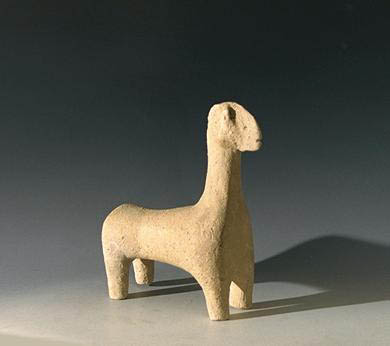 Amlash Terracotta Lamb Figure, ca. 1000 BC