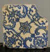 A Persian Blue & White Pottery Tile, 19th century