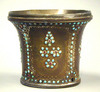 An Indian Jeweled Bronze Water pipe Cup