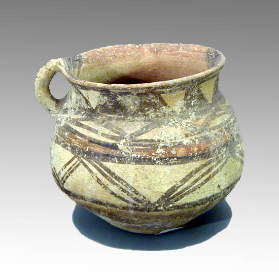 A Neolithic Painted Pottery Vessel, Iran.
