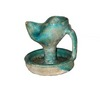 Islamic Turquoise Glazed Pottery Oil Lamp