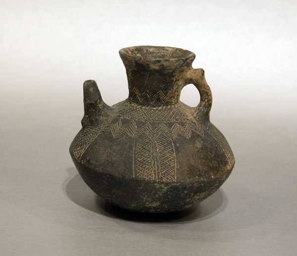 Northwest Iranian Blackware Pottery Jar