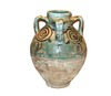 Turquoise Glazed Pottery Storage Jar