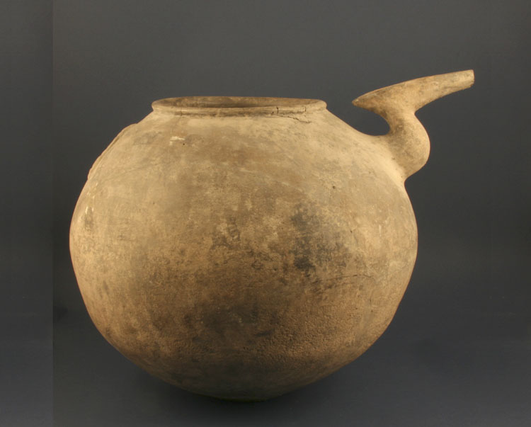 A Large Neolithic Pottery Spouted Vessel