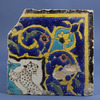 Late Safavid Cuerda Seca Pottery Tile.