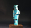 Egyptian Blue Glaze Faience Figure
