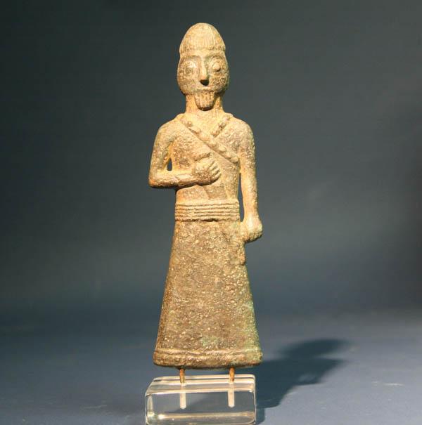 A Bronze Figure of a Warrior