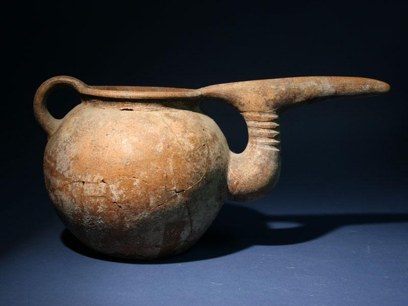Northwest Iranian Pelican Pottery Ewer