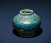 A Miniature Ceramic  Blue Glazed Jar,