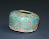 Small Turquoise Glazed Pottery Inkwell