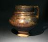 A Kashan Cobalt & Luster Pottery Jar