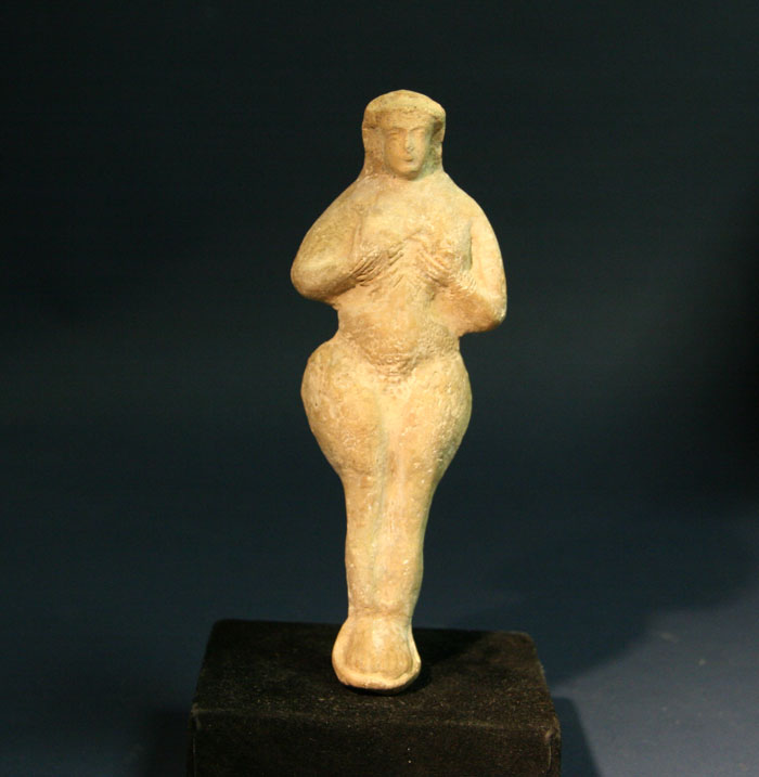A Babylonian Terracotta Female Idol Figure