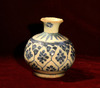 A Persian  Blue & White Pottery Vase.