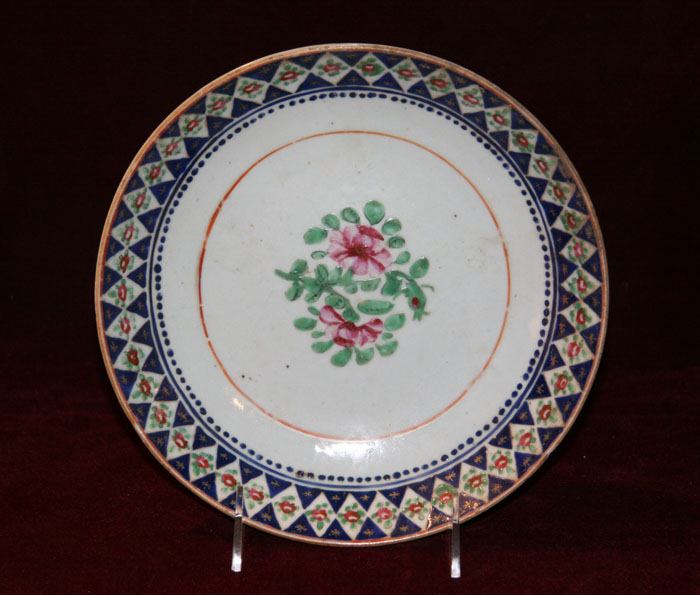 Chinese Export Plate for the Persian Market