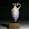 Roman Blue Glass Amphora Bottle