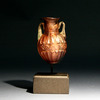 Roman Aubergine Glass Bottle