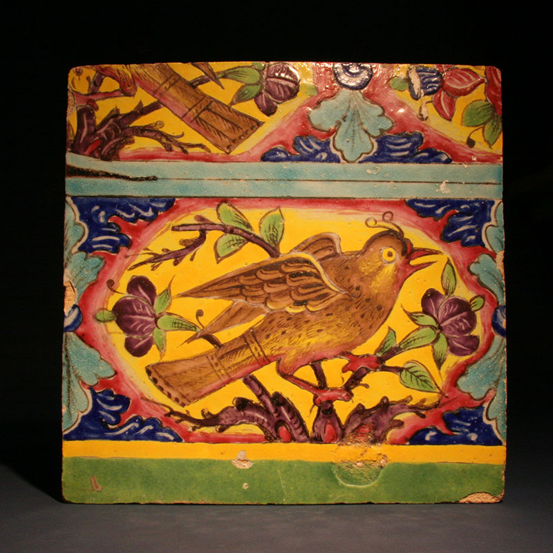 Persian Pottery Tile, 19th century AD