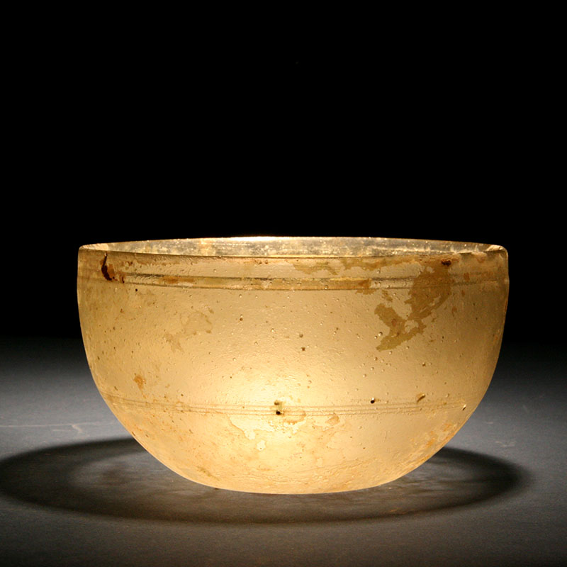 Roman/Syrian Glass Bowl, 2nd - 3rd century AD