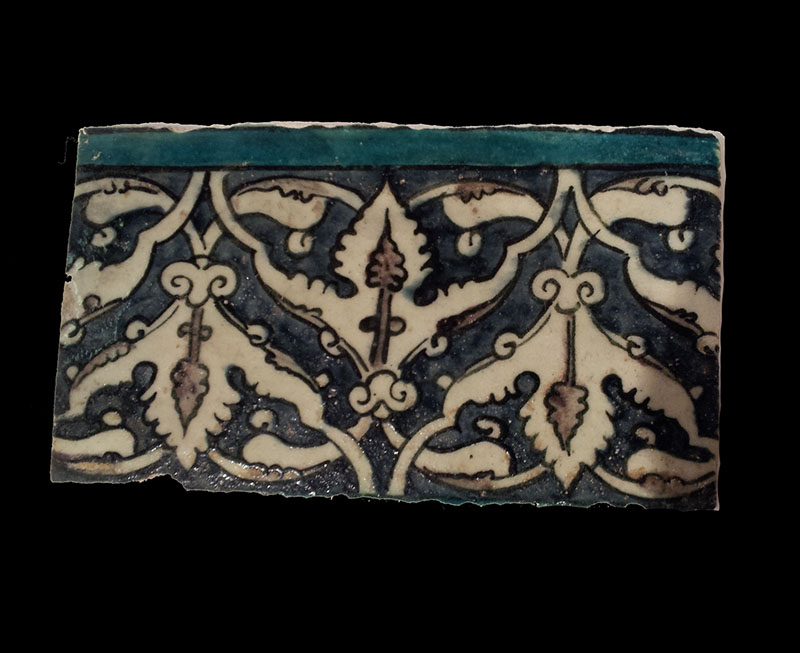 A Damascus Border Tile, Syria 17th century AD