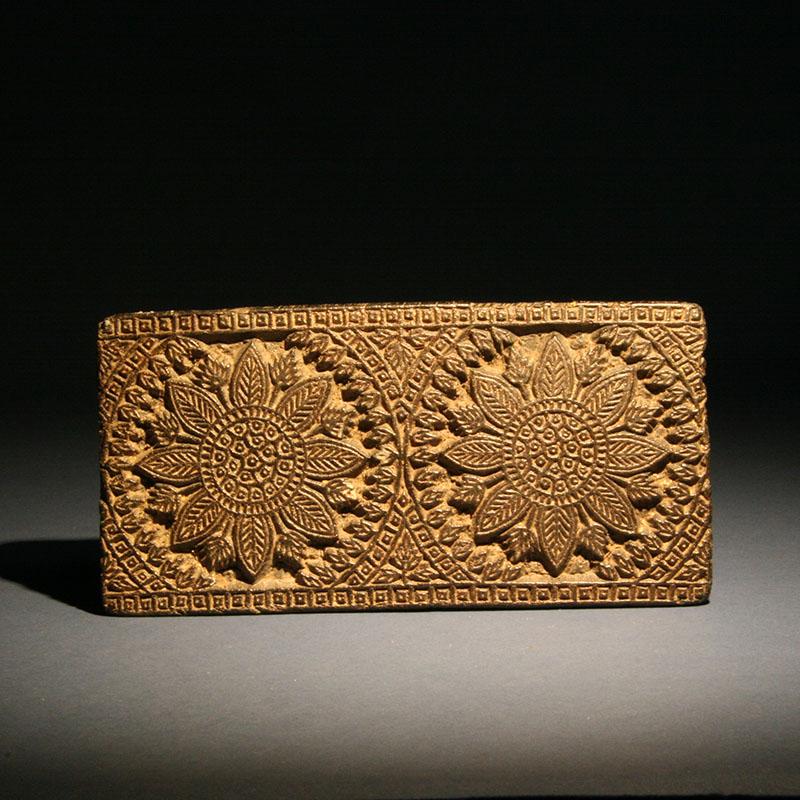 Woodblock Textile Print Stamp