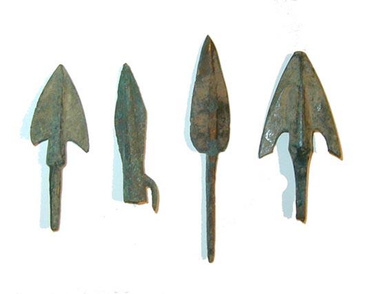 Lot of Ancient Roman Bronze Arrow Points