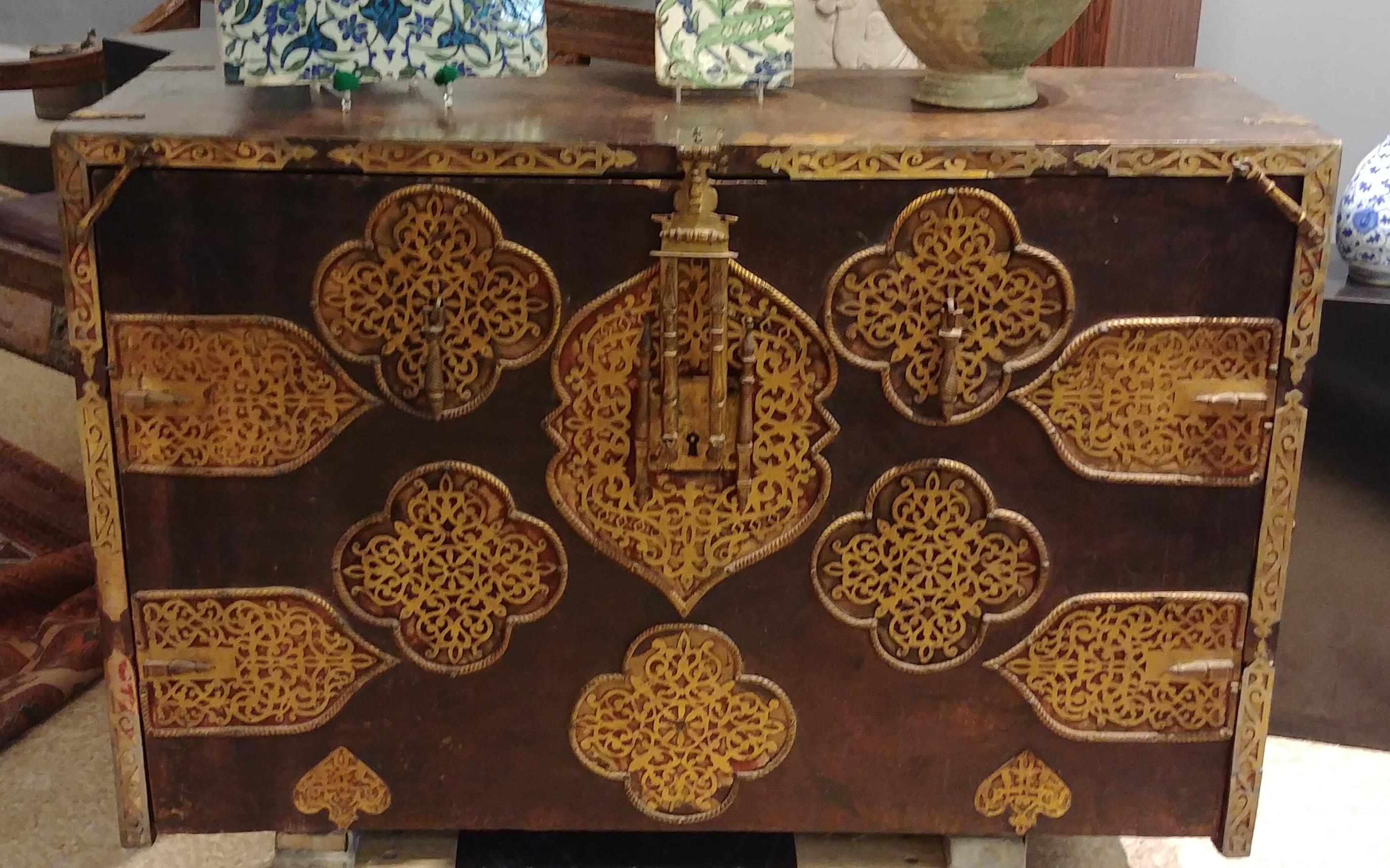 A Spanish Moorish travel chest (Vargueno), 17th century