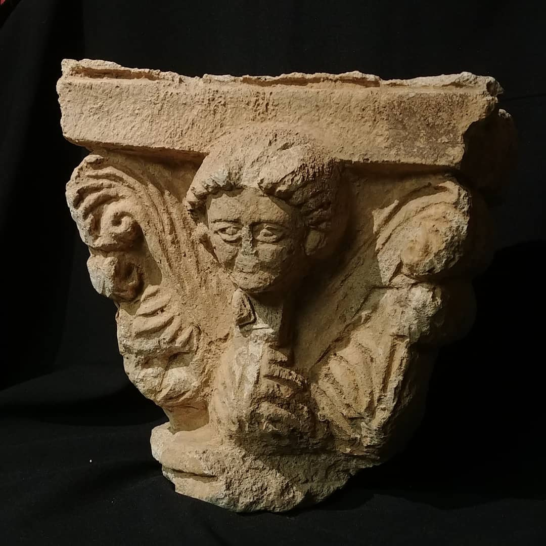 Parthian Stucco Capital with Female Bust ca. 2nd C. BC
