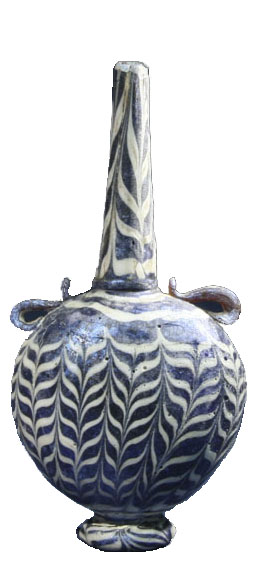 mamluk marvered glass sprinkler bottle