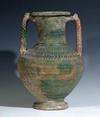 A Parthian Glazed Ceramic Urn with Handles
