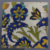 Safavid Cuerda Seca Pottery Tile, 17th century